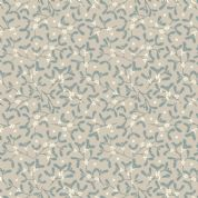 Lewis & Irene - Winter in Bluebell Wood - 6688 - Mistletoe on Pale Grey - C43.1 - Cotton Fabric